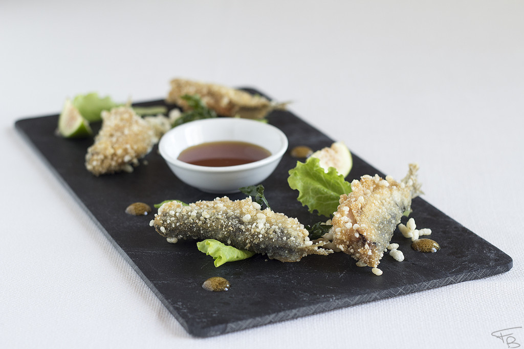 ristorante acquamatta - Sarde imbottite, panate al riso thai e salsa agrodolce