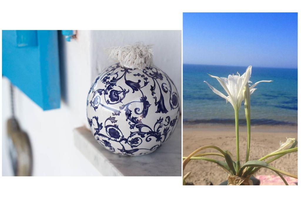 Carloforte, casa di Paolo, homedecor , un giglio bianco sulla spiaggia